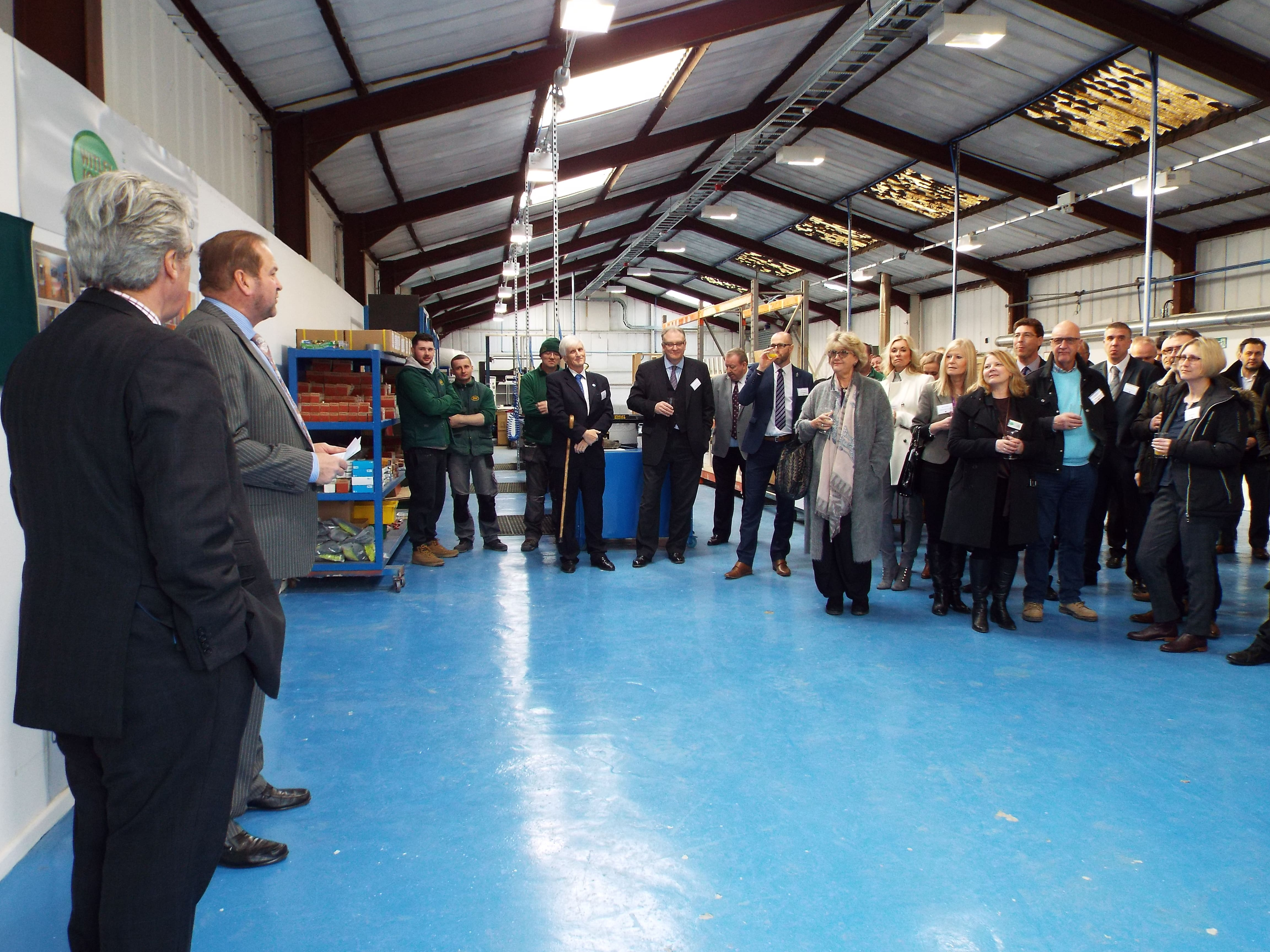 Witley Jones welcome visitors for a tour of Stourport factory