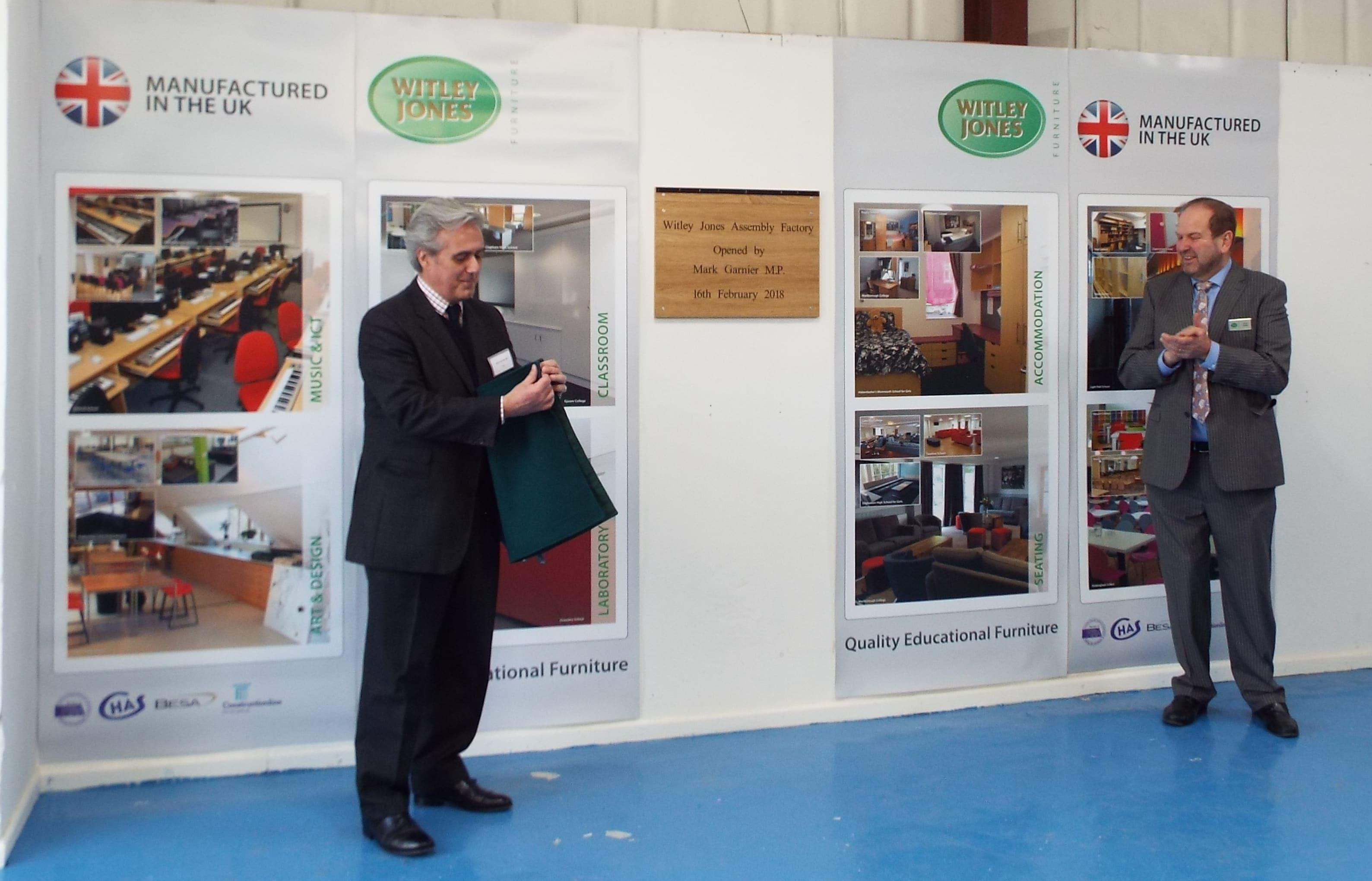 Mark Garnier MP opens Witley Jones