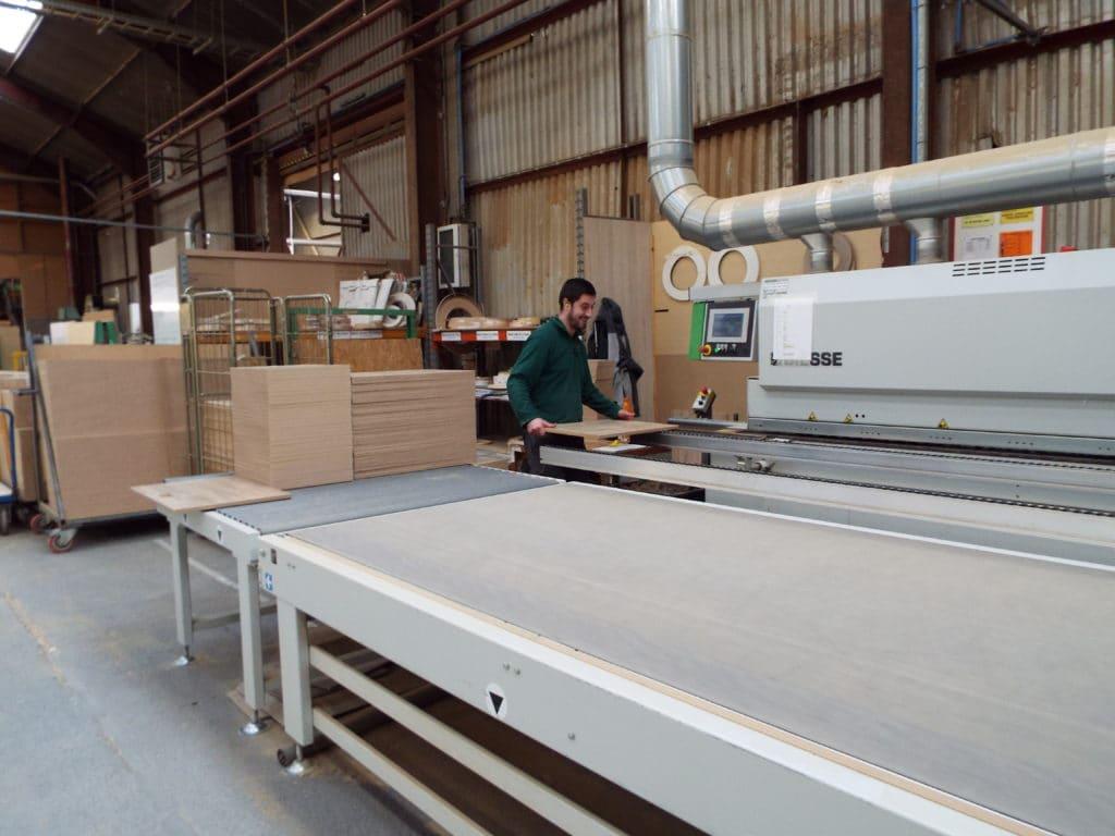 Edging banding in the machine shop