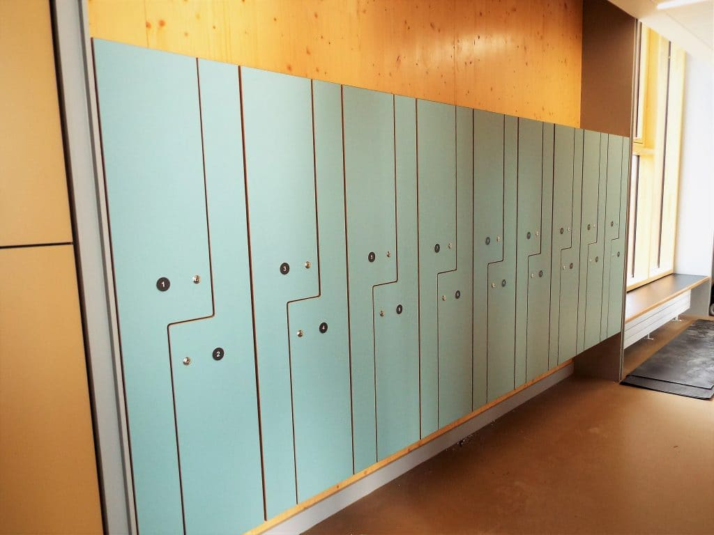 Bespoke school locker storage