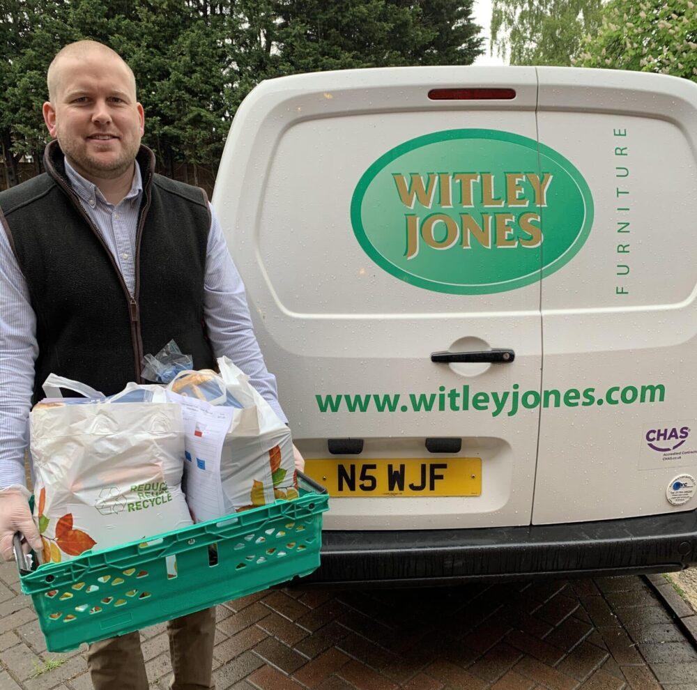 Matt Jones volunteering at Worcester Community Trust foodbank